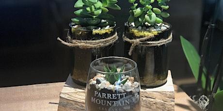 Cut Wine Bottle & PMC glass Succulent Workshop 8.5.20 tickets
