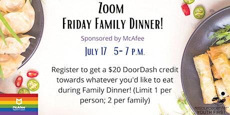 Friday Family Dinner tickets