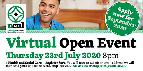 Health and Social Care Virtual Open Event tickets