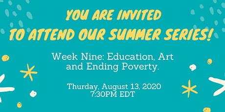 Education, Art and Ending Poverty tickets