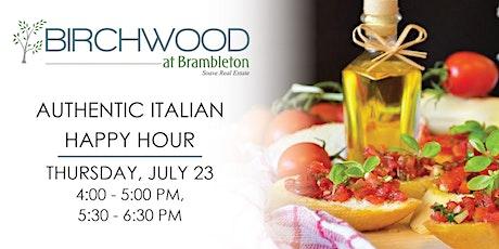 Authentic Italian Happy Hour tickets