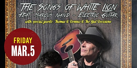 """MIKE TRAMP """"The Songs of WHITE LION"""" Feat. Marcus Nand on Electric Guitar. tickets"""