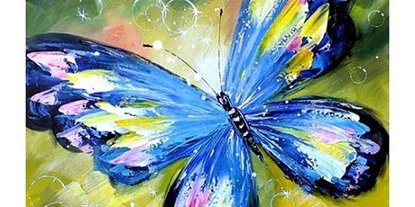 Paint and Sip at Home Art Webinar 'Butterfly' tickets