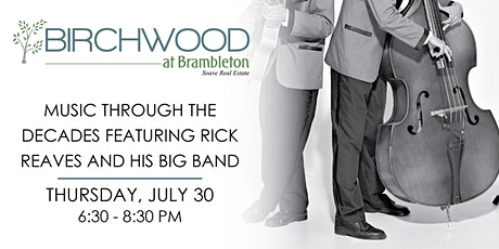 Music Through the Decades Featuring Rick Reaves and His Big Band tickets
