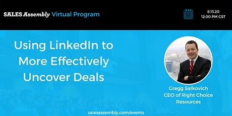 Using LinkedIn to More Effectively Uncover Deals tickets