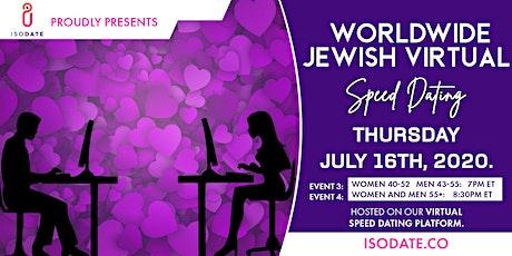 Worldwide Jewish Virtual Speed Dating 2/2 tickets