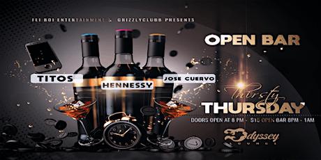 Thirsty Thursday Open Bar tickets