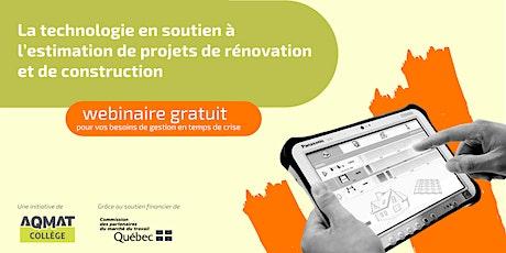 Technologie en soutien à l'estimation de projets de rénovation/construction billets