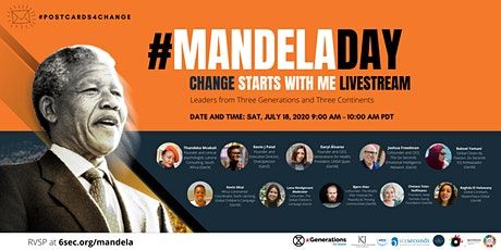 Mandela Day: Change Starts With Me Livestream tickets