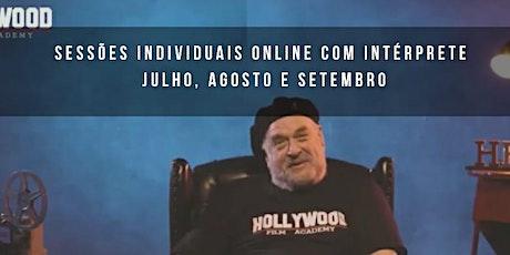 Aulas particul. indiv. ONLINE com intérp. c/ coach de Hollywood BRUCE DUCAT bilhetes