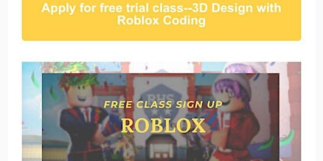 Free video recording of 3D  Design with Roblox Coding tickets