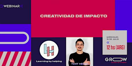 Webinar: Creatividad de impacto entradas
