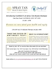Introducing Youthful IV at Spray Tan Beauty Boutique tickets