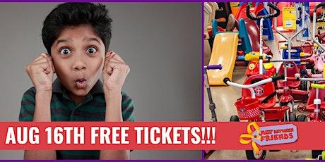 Aug 16th -1/2 Price Sale FREE Pass tickets