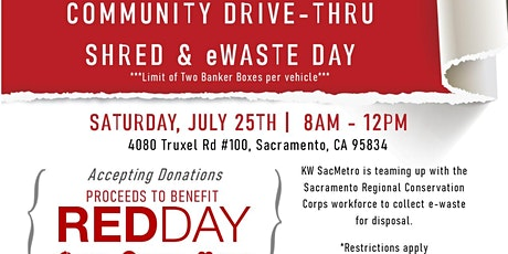 Community Drive Thru Shred and eWaste Day tickets