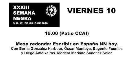 Mesa redonda: Escribir en España NN hoy. entradas