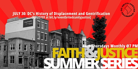 DC History- Housing Displacement & Gentrification tickets