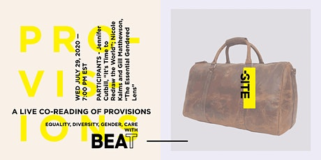 A Live Co-Reading of Provisions - Equality, Diversity, Gender, Care tickets