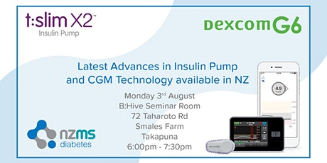 Introduction to Dexcom G6 and Tandem Basal IQ - Takapuna tickets