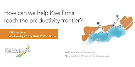 Webinar: How can we help Kiwi firms reach the productivity frontier? tickets