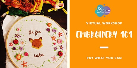 Virtual  Workshop Embroidery 101 tickets