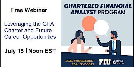 Leveraging the CFA Charter and Future Career Opportunities biglietti