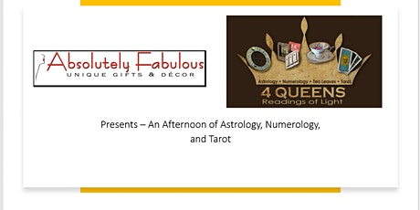 Absolutely Fabulous:  Astrology, Numerology, and Tarot! tickets