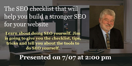 SEO checklist to help you build a stronger website SEO - 2/6 part series tickets