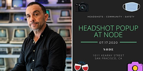 Professional Headshot Popup at Node tickets