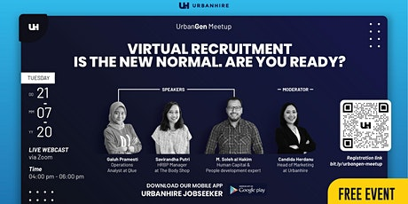 "UrbanGen Meetup ""Virtual Recruitment is the New Normal. Are You Ready?"" tickets"
