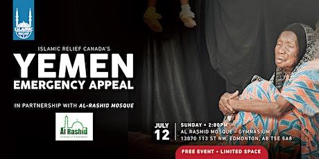 Yemen Emergency Appeal - In Partnership with Al Rashid Mosque tickets