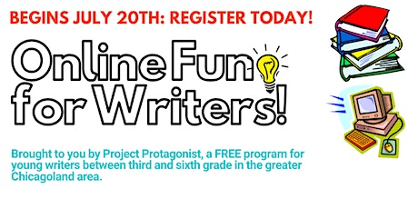 """Online Fun For Writers!"" FREE Summer Program (3RD/4TH GRADE) tickets"