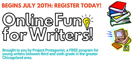 """Online Fun For Writers!"" FREE Summer Program (5TH/6TH GRADE) tickets"