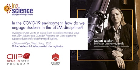 In the COVID-19 environment, how do we engage students in STEM? tickets