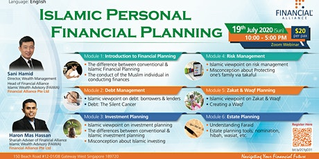 Islamic Personal Financial Planning Course For Public (iPFP) - 19th July 20 tickets