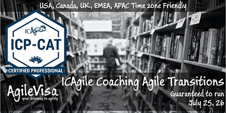 (2 seats left) Coaching Agile Transitions Masterclass (ICP-CAT) tickets