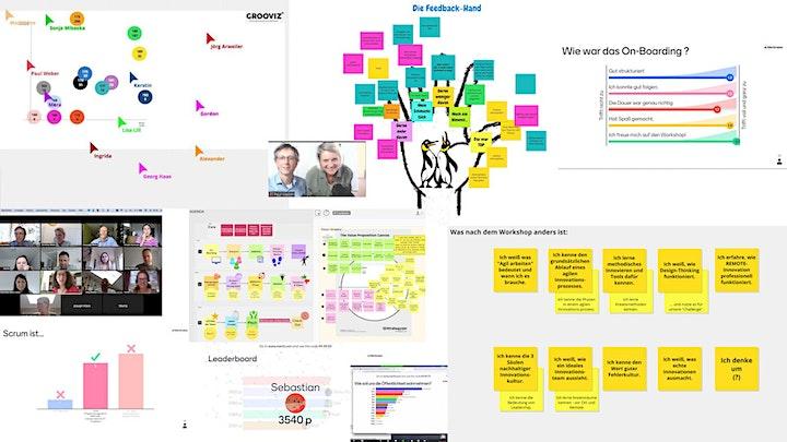 GROOVIZ® DESIGN THINKING Remote-Innovation Workshop: Bild