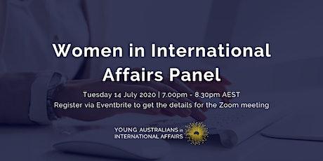 Women in International Affairs Panel tickets