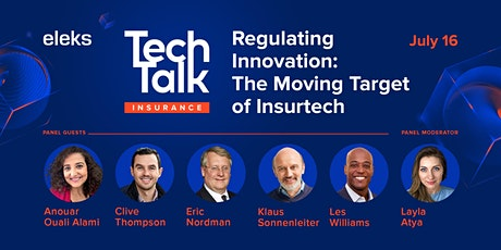 ELEKS TechTalk Regulating Innovation: The Moving Target of Insurtech tickets