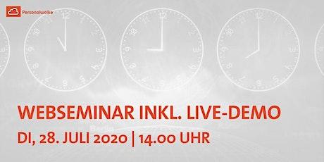 WEBSEMINAR INKL.LIVE-DEMO:Das Anlegen von Zeitmodellen in der Personalwolke Tickets
