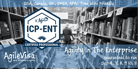 Guaranteed to Run! Agility in the Enterprise Masterclass (ICP-ENT) tickets