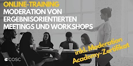 Moderation von ergebnisorientierten Workshops und Meetings Tickets