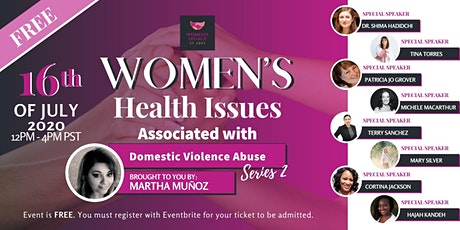 Women's Health Issues Associated with Domestic Violence Abuse Series 2 tickets
