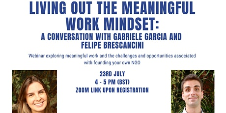 Living Out the Meaningful Work Mindset - LSE Faith Centre Alumni Webinar tickets