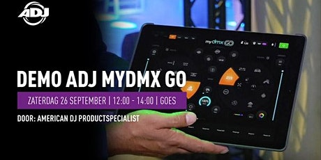 Demo American DJ myDMX Go op 26 september bij Bax Music Goes tickets