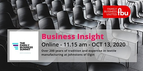 Family Business Insight - Johnstons of Elgin tickets