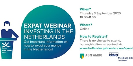 Expat Webinar: Investing in the Netherlands tickets
