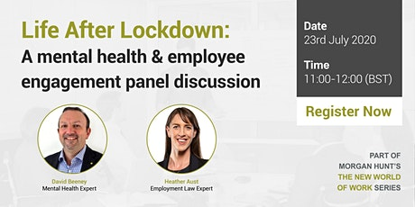 Life After Lockdown: A mental health & employee engagement panel discussion tickets