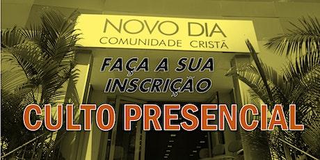 CULTO PRESENCIAL  QUARTA-FEIRA DO REFRIGÉRIO ingressos