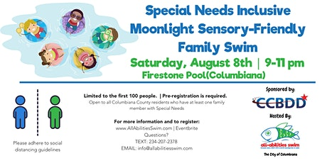 CCBDD Inclusive Special Needs Moonlight Family Swim tickets